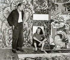 Jackson Pollock and Lee Krasner in the studio, 1949. The Pollock-Krasner Foundation