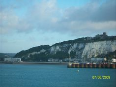 The White Cliffs of Dover as we sail into the Dover Port.
