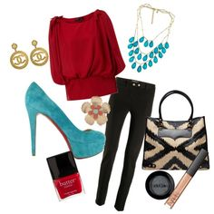 RED AND TURQUOISE, love those colors together!!