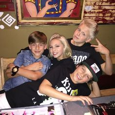 Carson Lueders Johnny Orlando Jordyn Jones and Hayden Summerall