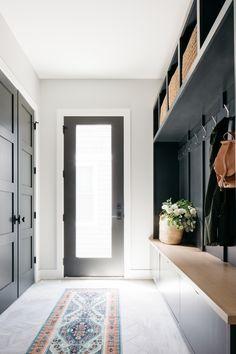 Hallway Ideas Entrance Narrow, Modern Entrance, Modern Entry, House Entrance, Modern Hallway, Modern Farmhouse, House Tours, Condo Interior Design, Halls
