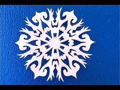 DIY.Как вырезать новогодние снежинки. How to cut a paper snowflake