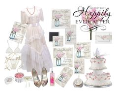 """PINK SWEET PEAS VINTAGE MASON JAR Wedding"" by weddingtrends on Polyvore featuring Zandra Rhodes, Giuseppe Zanotti, Bling Jewelry, Hanky Panky and vintage"