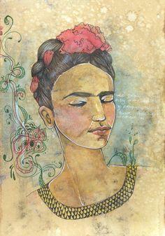 Frida Kahlo by Verônica Nunes  @ve_ilustra facebook.com/veronicanunesilustra