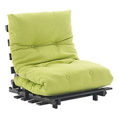green futon ikea green color with black frame