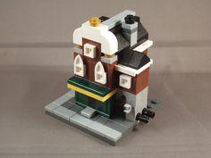 A Mini Modular version of my Dutch Irish Pub. Lego Toys, Lego Lego, Cool Lego, Awesome Lego, Lego Minifigure Display, Micro Scale, Micro Lego, Lego Builder, Block Art