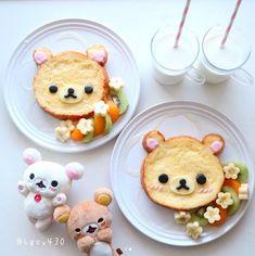 Cute Food, Good Food, Yummy Food, Bento Recipes, Baby Food Recipes, Veggie Art, Japanese Food Art, Kawaii Dessert, Food Art For Kids