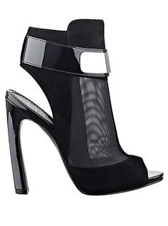 Anavey Peep-Toe Mesh Booties | GUESS.com