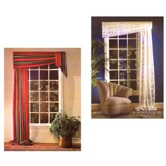 This sophisticated contemporary window treatment is very easy to make.