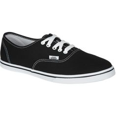 Vans Authentic Lo Pro Solid Shoe ($29) ❤ liked on Polyvore featuring shoes, sneakers, vans trainers, vans sneakers, low shoes, vans footwear and vans shoes