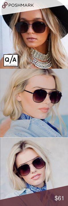 NWT Quay Australia To Be Seen Aviator Sunglasses ➖NWT ➖BRAND: Quay Australia  ➖STYLE: To Be Forced Aviator with Gradient Mirrored Sunglasses with a geometric brow bar.   ❌ NO TRADE  Entropycat Quay Australia Accessories Sunglasses