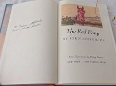 Vintage John Steinbeck's The Red Pony 1989 Steinbeck