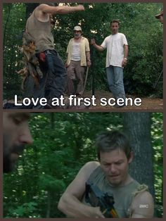"""Love at first scene: Daryl Dixon. """"Come on people, gotta be the brain!"""""""