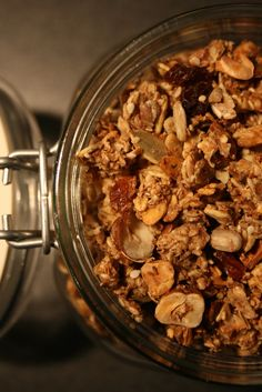 Cooking with July: Hjemmelaget müsli/granola Muesli, Granola, Healthy Lifestyle, Korn, Cooking, Breakfast, Cucina, Breakfast Cafe, Kochen