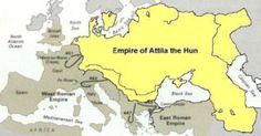 Map of the Hunnic Empire under Attila World History Ancient Places and/or Civilizations Geography European History, World History, Ancient History, Black History, Art History, Attila The Hun, Empire Romain, Unique Facts, Mystery Of History