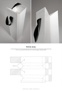 Wine Bag – structural packaging design dielines