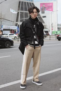 ... Seoul Fashion Week Streetstyle Korean Model Junsu Kim