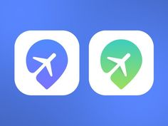 Great use of negative space to incorporate 2 subjects into one: an airplane and a map icon symbol to represent traveling.