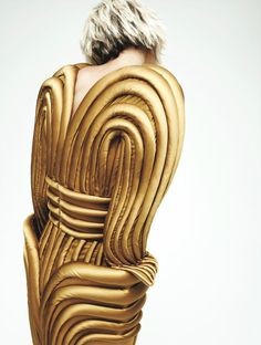 """candentia: """" Karlie Kloss in 'Karlie's Couture' Photographer: Gregory Harris Dress: Jean Paul Gaultier Haute Couture F/W 2013/14 Interview Magazine October 2013 """""""