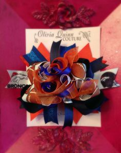 Broncos Fan OTT Corker Official NFL Football by OliviaQuinnCouture, $8.00