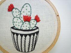 3 pouces broderie moderne Art Hoop « Cactus 7 » par le fromage avant de coucher