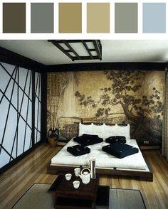 Bedroom color palette - cerise dark-lime-green dark-orange dark-red dark-tangelo