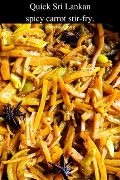 quick Sri Lankan spicy carrot stir-fry infused with star anise. this easy, gluten-free, vegan, vegetarian dish makes the perfect side dish for any meal. Curry Recipes, Healthy Chicken Recipes, Side Dish Recipes, Vegetable Recipes, Vegetarian Side Dishes, Vegetable Side Dishes, Vegetarian Recipes, Vegan Vegetarian, Carrot Curry