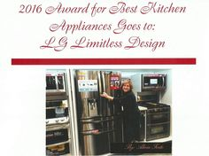 #LGLimitlessDesign and #Contest And the Best Kitchen Appliances of 2016 goes to:   LG Limitless Design!  Awarded by: Alicia Forte