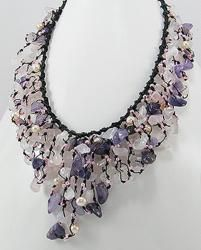@Overstock.com - Cotton Amethyst/ Quartz/ Pearl Waterfall Necklace (3-5 mm) (Thailand) - This gorgeous handmade necklace is designed by Thailand's Thidarat. With striking freshwater pearls, amethyst and rose quartz, this piece of jewelry is crafted with cotton rope.  http://www.overstock.com/Worldstock-Fair-Trade/Cotton-Amethyst-Quartz-Pearl-Waterfall-Necklace-3-5-mm-Thailand/5211950/product.html?CID=214117 $30.49