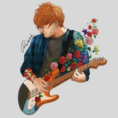 ed sheeran fan art is so beautiful so in lovee! This is the best fan art ever! Ed Sheeran Love, Ed Sheeran Lyrics, Edward Christopher Sheeran, Teddy Photos, Music Ed, Music Stuff, Doja Cat, Fashion Mode, Music Artists