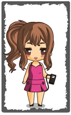 Ariana Grande chibi! http://frasesimaturas.blogspot.com.br/