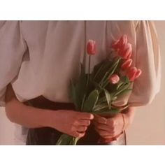 i'll send him tulips and he'll give me roses because he knows the pink ones are my favourite