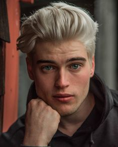 15 Gorgeous Quiff Hairstyles For Men Of All Ages StylesRant - 7 hair Men quiff ideas Platinum Blonde Hair Men, Men Blonde Hair, Silver Blonde Hair, Blonde Boys, Short Blonde, Cute Blonde Guys, Guys With Blonde Hair, Guys With Colored Hair, Blond Men
