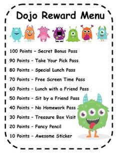 EDITABLE! Class Dojo Reward Menu and Certificates! Finally I'll know what to do with my students' dojo points.