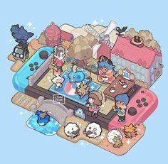 Pokemon Pins, Nintendo Pokemon, Pokemon Fan Art, Cool Pokemon Wallpapers, Cute Pokemon Wallpaper, Cute Pokemon Pictures, Pokemon Images, Animal Crossing, Kawaii Games