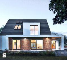 Projekt obejmował przebudowę i rozbudowę domu jednorodzinego oraz budowę nowego , wolnostojącego budynku gospodarczo-garażowego.  Głowna bryła domu nie zmieniła obrysu, przestrzeń ...