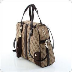GUESS ONLINESHOP : Handtasche Guess Poway - Medium Dome Satchel Coffee