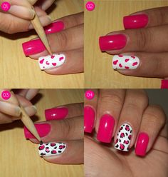 60 Beautiful Pink Nail Art Designs Ideas To become a real pink manicure decoration, to the choice of its colors must be approached thoughtfully. To create it, you can use one or several combined or contrasting color lacquers. Standard pink manicure can Pink Nail Art, Cool Nail Art, Manicure And Pedicure, Love Nails, How To Do Nails, Pretty Nails, Nail Art Designs, Art Rose, Nail Art Hacks