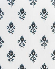 Addison Block Print Wallpaper – McGee & Co. Indian Block Print, Indian Prints, Print Wallpaper, Pattern Wallpaper, Fern Wallpaper, Textile Prints, Textiles, Botanical Prints, Floral Prints