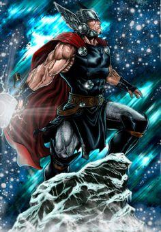 Thor - Fan Art  Created by Javier Jordan Sola