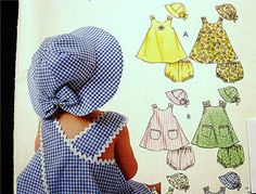 McCalls Baby Girl Pattern Baby by PatternsFromThePast, $10.00