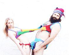 Oy! Couplres #Crochet bikinis. #art crippl depress