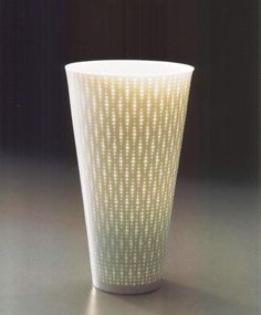 """""""Luminous Vessel, 2007"""" Glazed porcelain, 61/2"""" x 61/2"""" x 12""""  