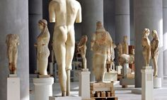 Statues await their final display at the Acropolis Museum in Athens, where the Chess project has been tested. Photograph: Simela Pantzartzi/...