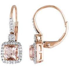 Diamond square drop earrings - TheFind