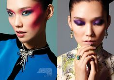 Tao Okamoto by Chris Craymer for Glass Magazine Summer 2013 3 » Eyeshadow Lipstick
