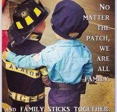 No matter the patch, we are all family. And family sticks together. Police Wife Life, Police Family, Firefighter Emt, Firefighter Quotes, Volunteer Firefighter, Leo Wife, Emergency Medical Services, Lol, All Family
