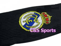 Real Madrid Soccer Football Socks Kids Youth - Black color by C & S. $6.99. Other team logo also available. Comfortable and airy. Long to the knee. Kids average size, one size fits all. A must have item for soccer fans