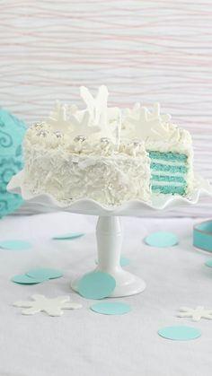 Blue Velvet Coconut Torte - TownandCountrymag.com