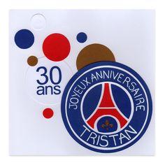 Carte Anniversaire Homme 30ans PSG - Lovely Carte